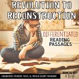 Social Studies DIGITAL Passages: Revolution to Reconstruction Nonfiction Texts