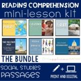 Social Studies Digital Reading Comprehension Kit BUNDLE