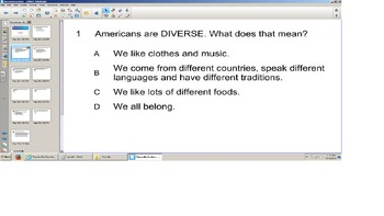 Social Studies, Diversity Senteo Smart board Quiz