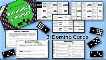 Social Studies Dominoes - 5th Grade GMAP Review (Set 3 of 4)