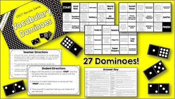 Social Studies Dominoes - 6th Grade CRCT Review (Set 1 of 2)