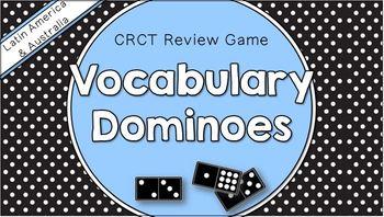 Social Studies Dominoes - 6th Grade CRCT Review (Set 2 of 2)