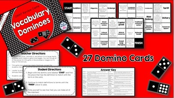 Social Studies Dominoes - 7th Grade GMAP Review (Set 2 of 2)