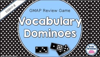 Social Studies Dominoes - 8th Grade GMAP Review (Set 4 of 5)