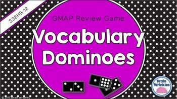 Social Studies Dominoes - 8th Grade GMAP Review (Set 5 of 5)