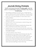 Social Studies Dual Language Journal Entry Prompts