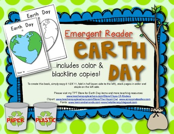 Social Studies {Earth Day} Emergent Reader