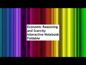 Social Studies Economics Interactive Notebook on Economic