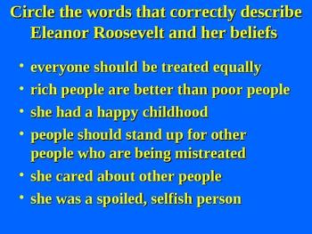 Social Studies: Eleanor Roosevelt PowerPoint Lesson