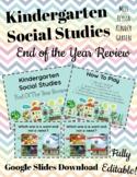 Social Studies End of Year Kindergarten Review Game CFU Formative Assessment