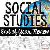 Social Studies End of Year Review Pack