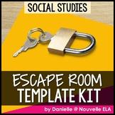 Social Studies Escape Room Template Kit