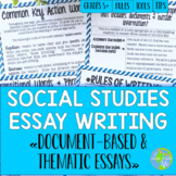 Social Studies Essay Writing