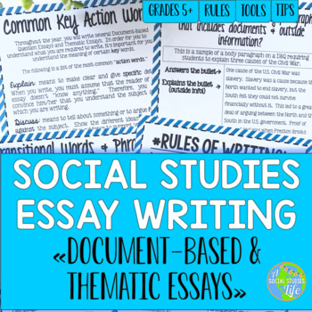 social studies essay writing by a social studies life tpt social studies essay writing