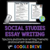 Social Studies Essay Writing