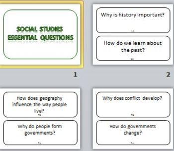 Social Studies Essential Questions Grade 6