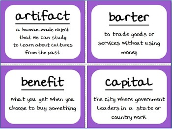Social Studies Essential Questions and Word Wall Pack - 2nd Grade (Georgia)