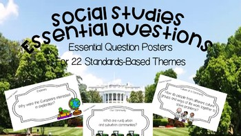 Social Studies:Essential Questions for 3rd Grade