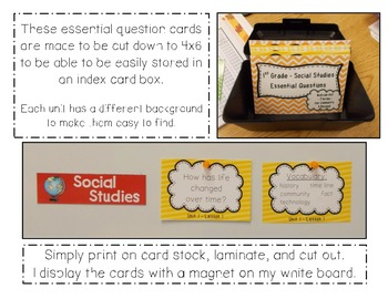 """Social Studies Essential Questions for McGraw-Hill """"Our Community & Beyond"""""""
