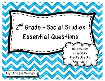 "Social Studies Essential Questions for McGraw-Hill ""Who We"