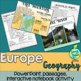 European Geography Social Studies Interactive Notebook