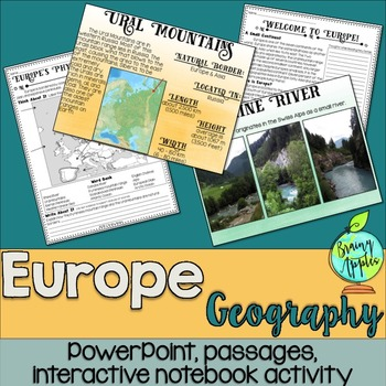 European Geography Social Studies Interactive Notebook
