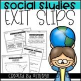 Social Studies Exit Slips