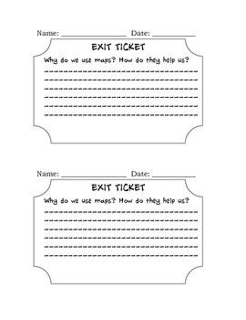 Social Studies: Exit Ticket Maps