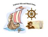 Social Studies:  Explorer Mix, Match and Race Game