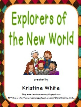 Social Studies Explorers of the New World Foldable Graphic Organizer