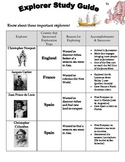 Social Studies: Explorers Study Guide and Assessment