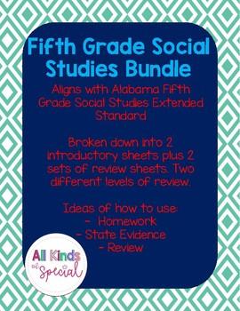 Social Studies Extended Standards Fifth Grade Bundle