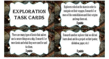 Social Studies Extension Project Task Card Bundle