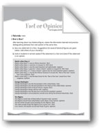 Social Studies Fact-Opinion Recall (Ten-Minute Activities)