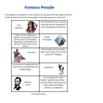 Social Studies: Famous Americans K.1