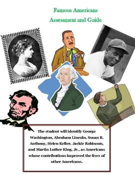 Social Studies: Famous Americans : Study Guide  & Assessment
