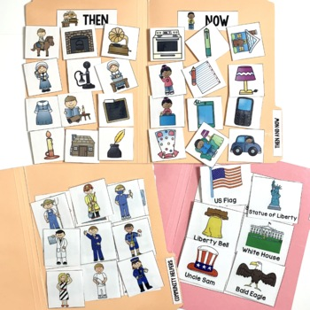 Social Studies File Folder Activities for Special Education