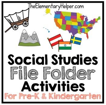Social Studies File Folder Activities for Preschool and Kindergarten