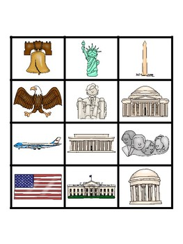 Social Studies File Folder Activity ~ American Symbols