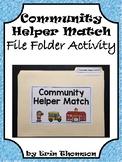 Social Studies File Folder Activity ~ Community Helper Match