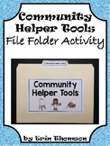 Social Studies File Folder Activity ~ Community Helper Tools