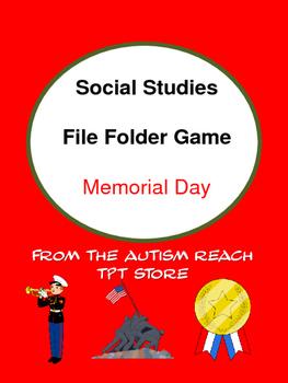 Social Studies File Folder: Memorial Day