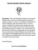 Social Studies Film / Movie Activity