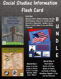 Social Studies Flash Card Bundle