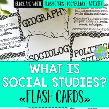 Social Studies Flash Cards - Black and White
