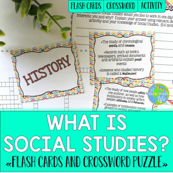 Social Studies Flash Cards & Crossword Puzzle