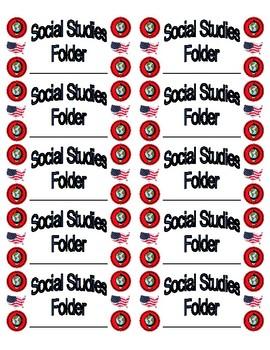 Social Studies Folder Labels