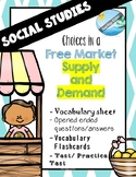 Social Studies - Free Market (SUPPLY and DEMAND) activities
