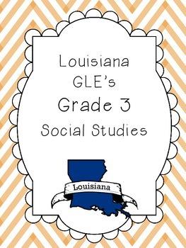Social Studies GLE Standards Posters - Grade 3