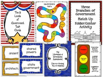 GOVERNMENT Social Studies Unit - Three Branches of Government / Levels / Greek